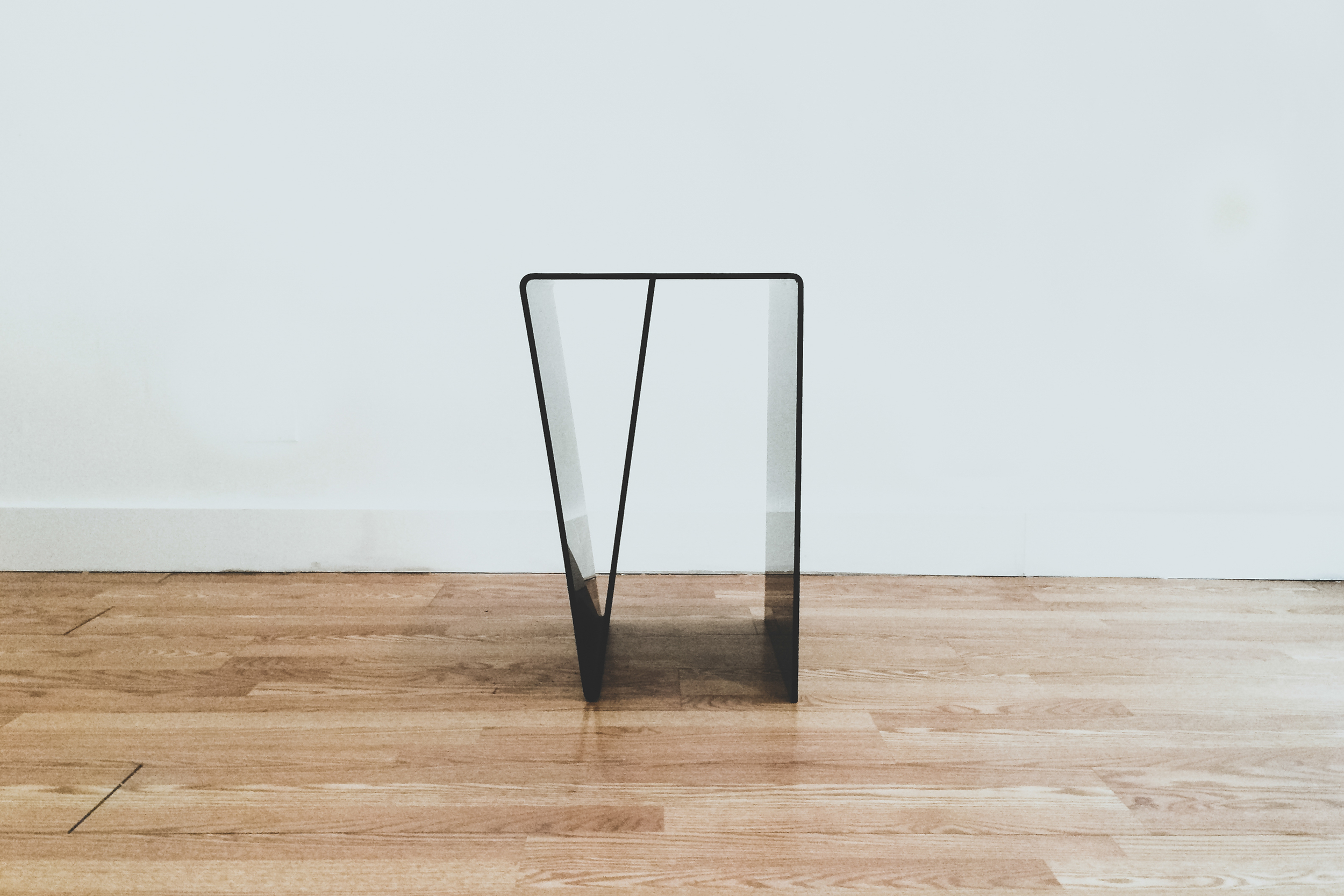 "Eve side table, Perspex, LWH: 18"" x 16"" x 25"" $650+ shipping"