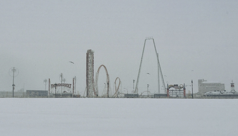 """Coney Island Snow"""
