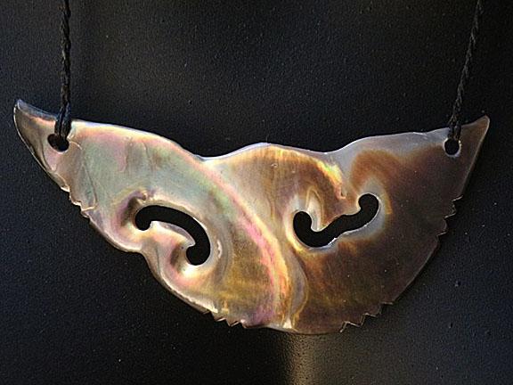 2. Rei moana (ocean) silver lipped pearl shell  $250.00