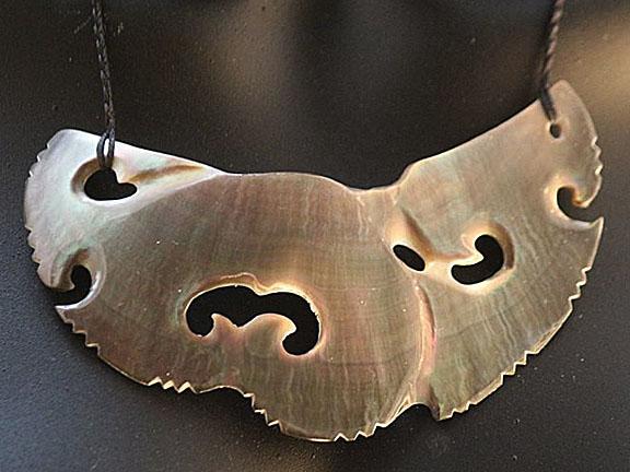 30. Rei moana (ocean) silver lipped pearl shell  $350.00