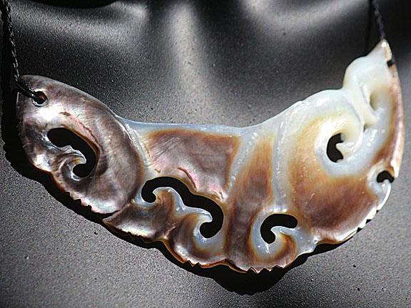 3. Rei moana (ocean) silver lipped pearl shell  $400.00
