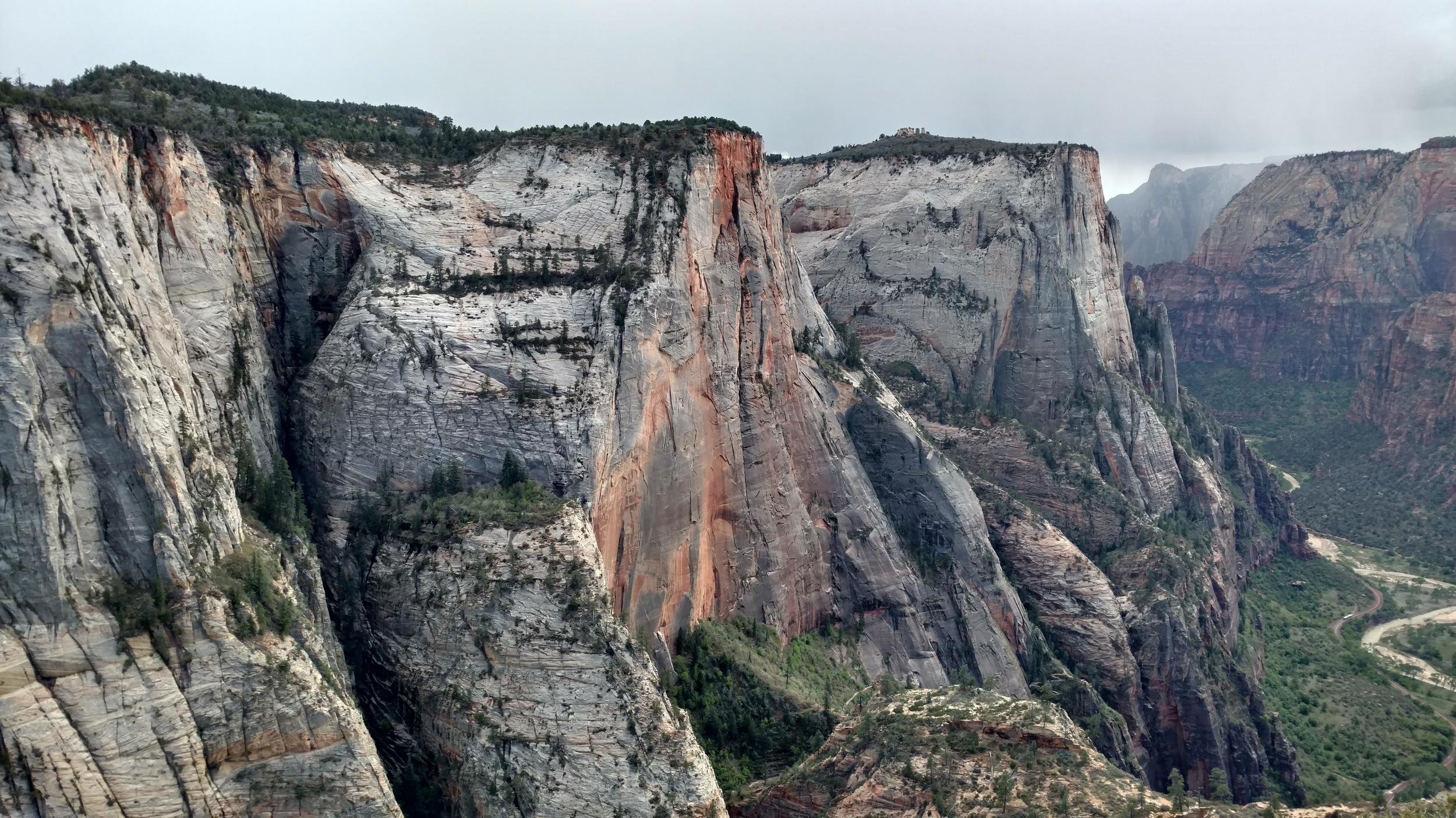 Wet sandstone of Cable Mountain