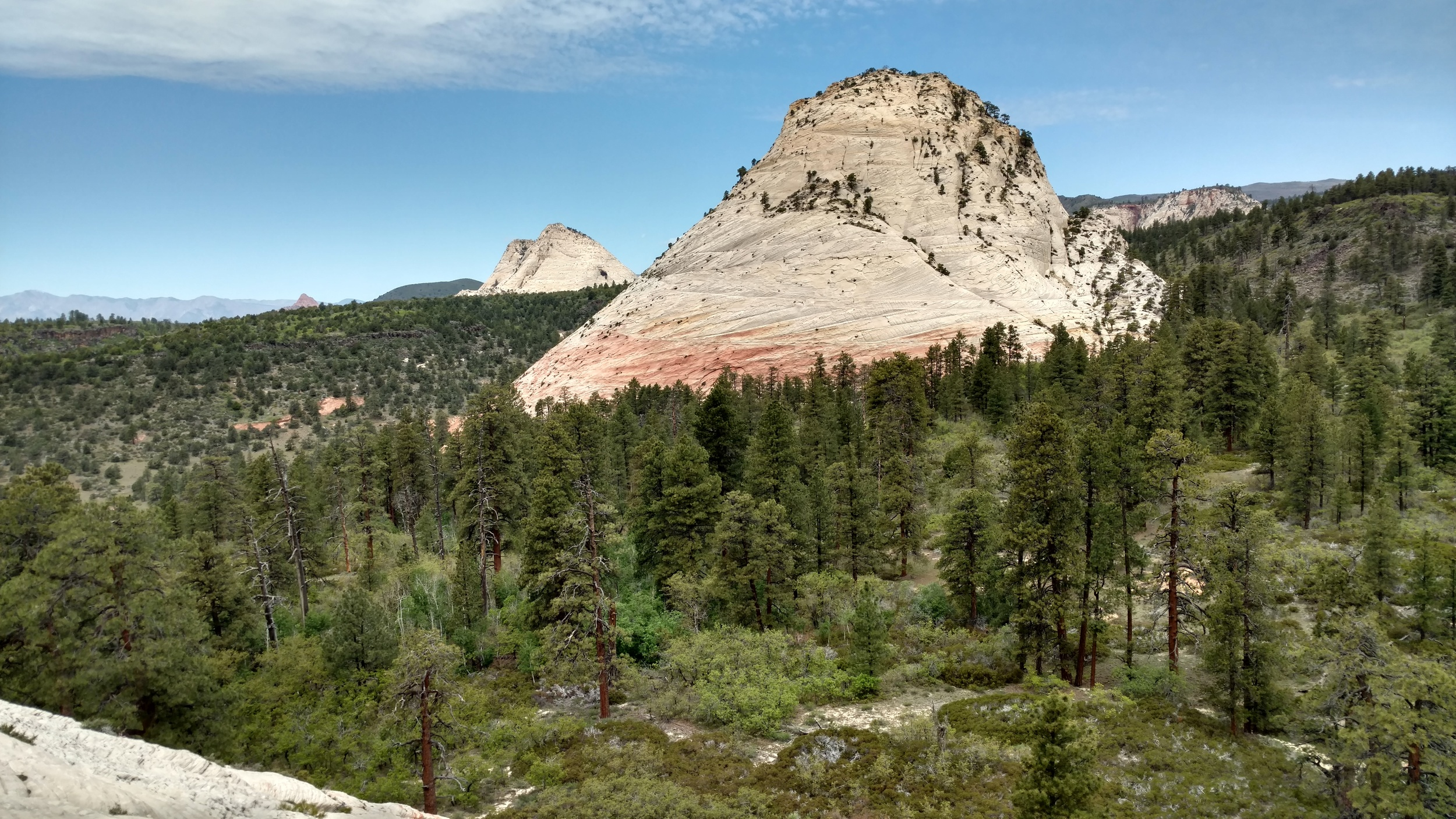 Northgate Peaks West with Pine Valley Peak in the distance.