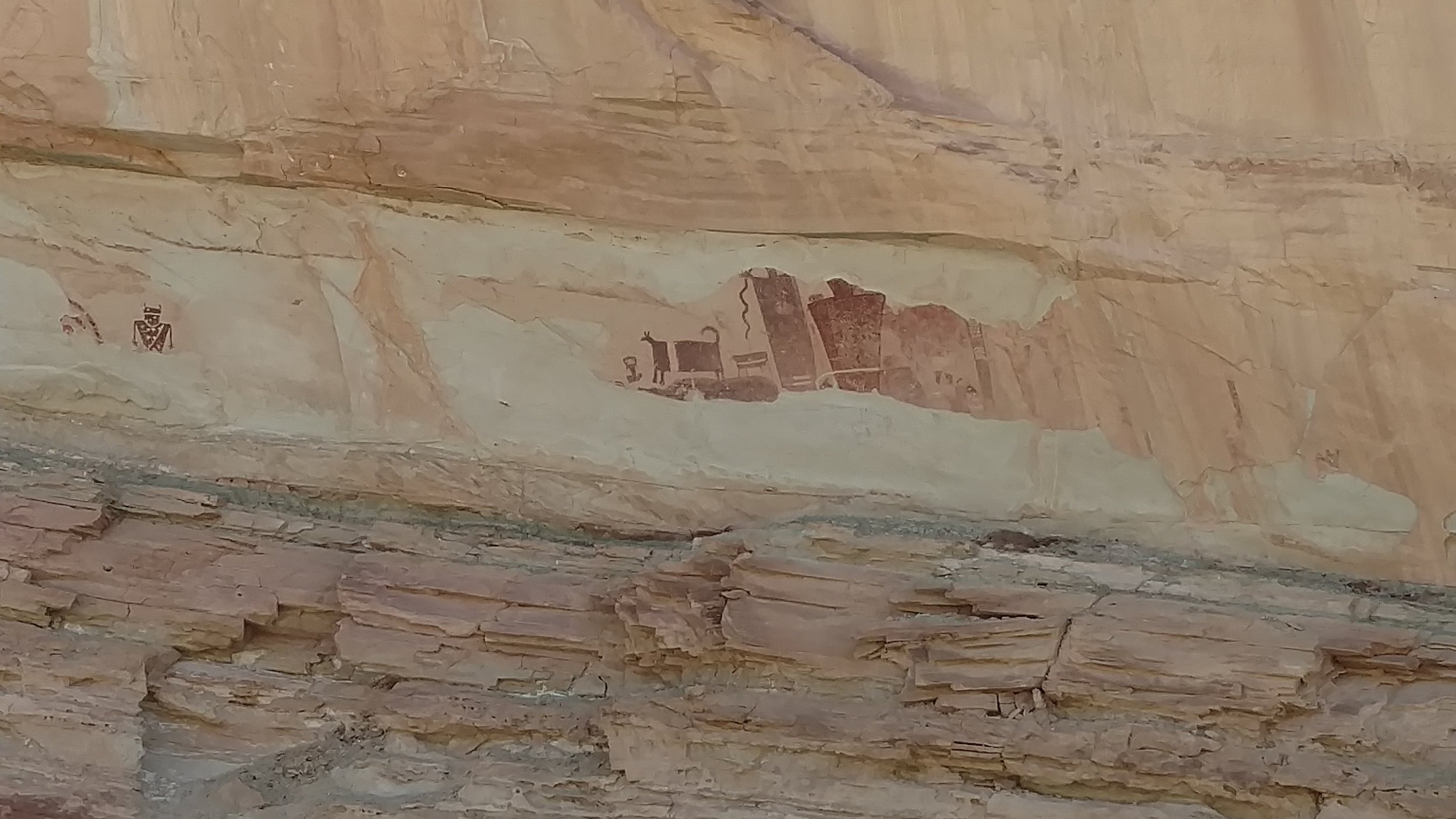Temple Mountain Pictograph Panel