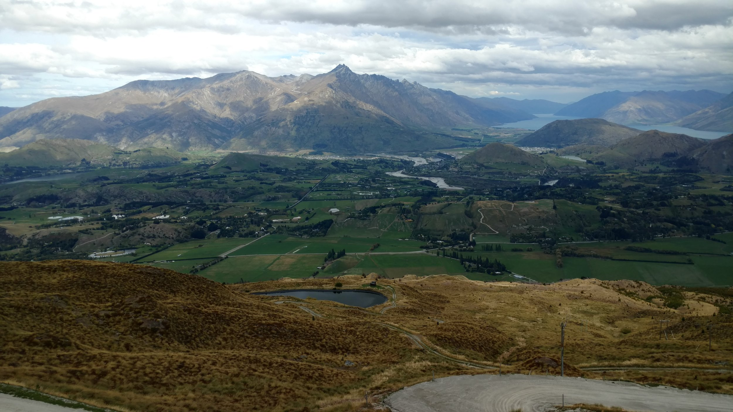 Trail view South of The Remarkables and Lake Wakatipu