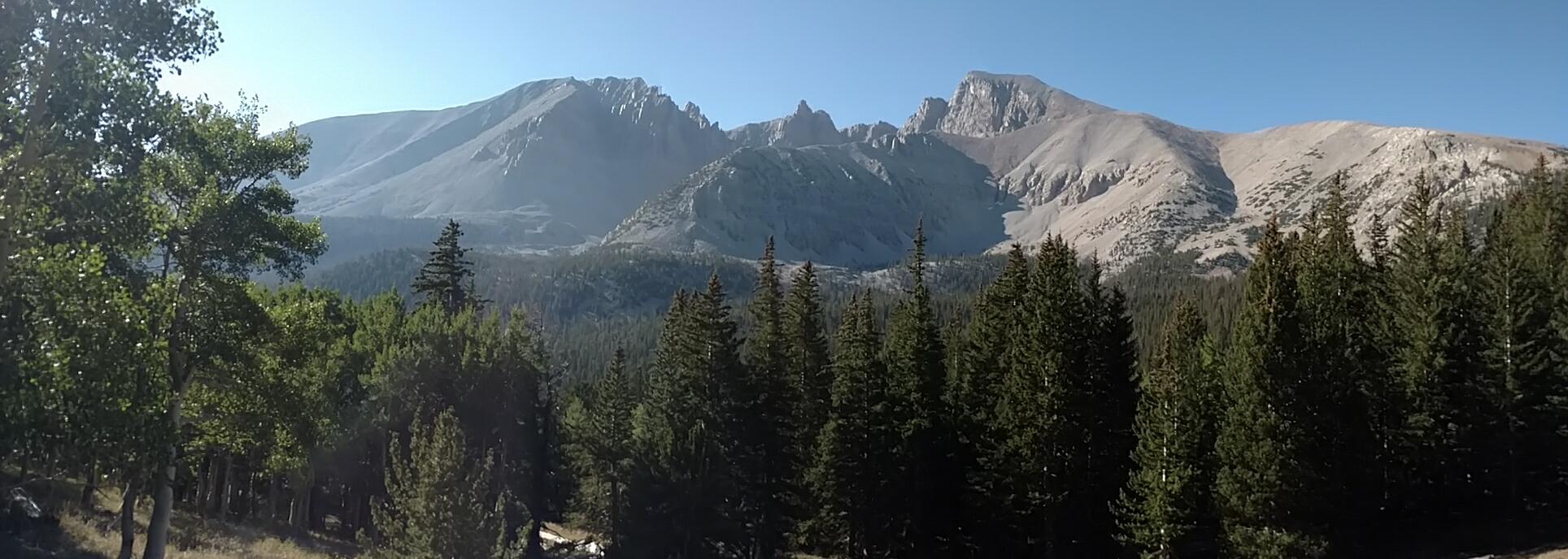 Jeff Davis peak (picture left) - Wheeler Peak (picture right)