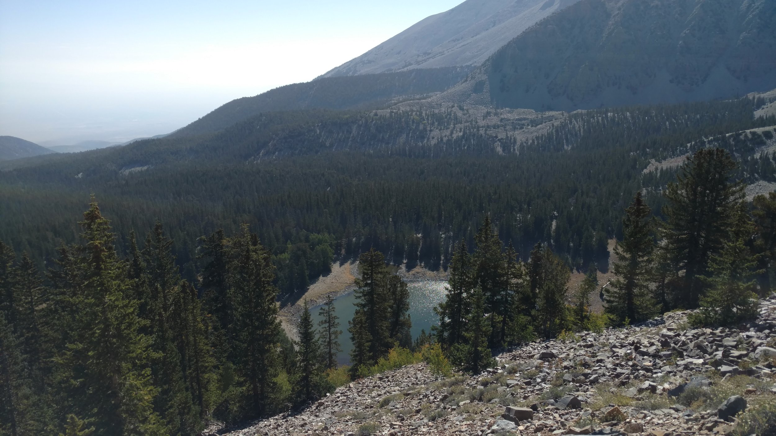 Return trip view of Stella Lake