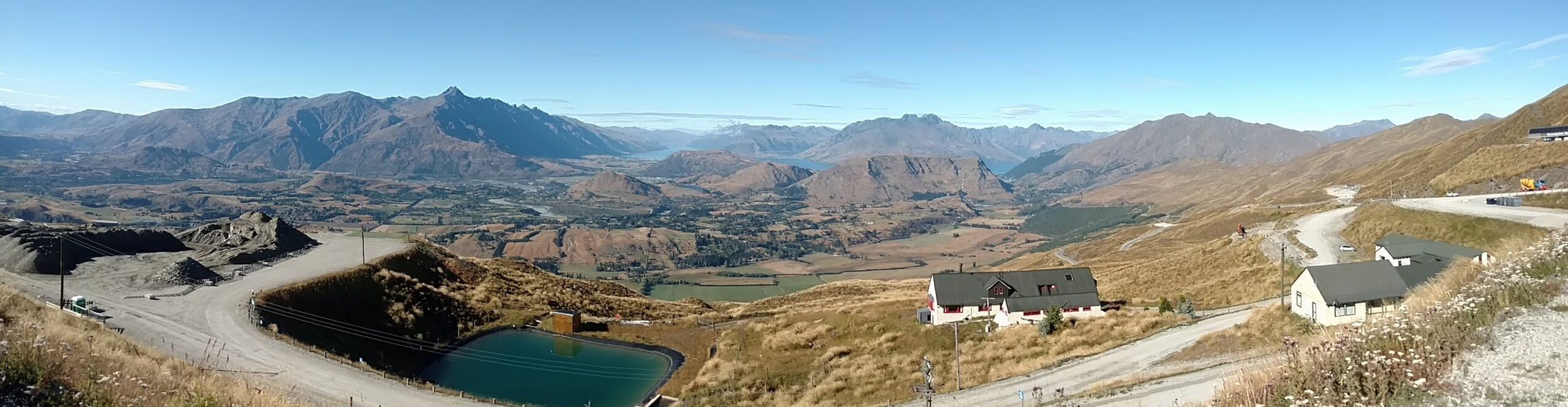 View towards Queenstown from Trailhead