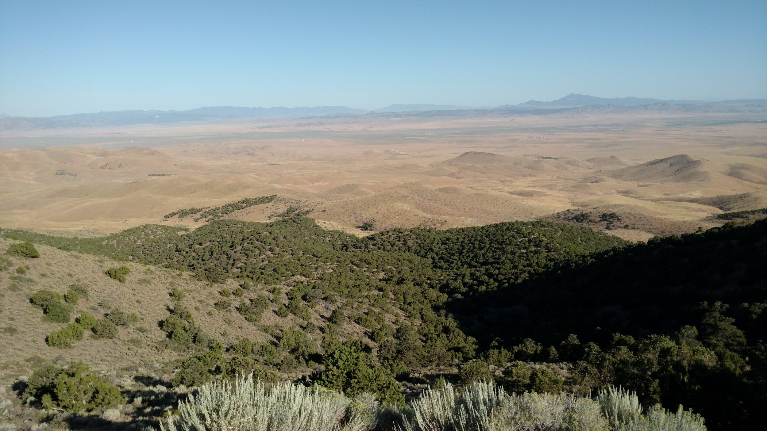 Peak 7460 summit view north
