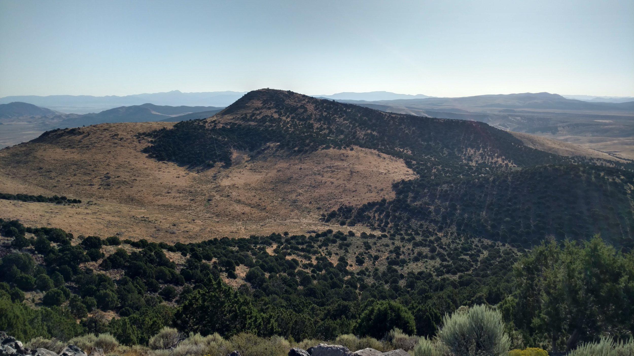 Dry Willow Peak; Iron County: Dry Willow Peak - UT quad; Rise 1,053'; UT Rank: 1,715