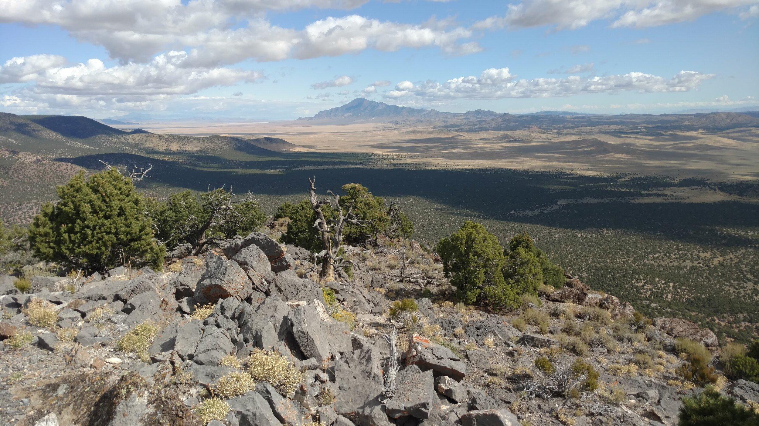 Mine Benchmark summit view north