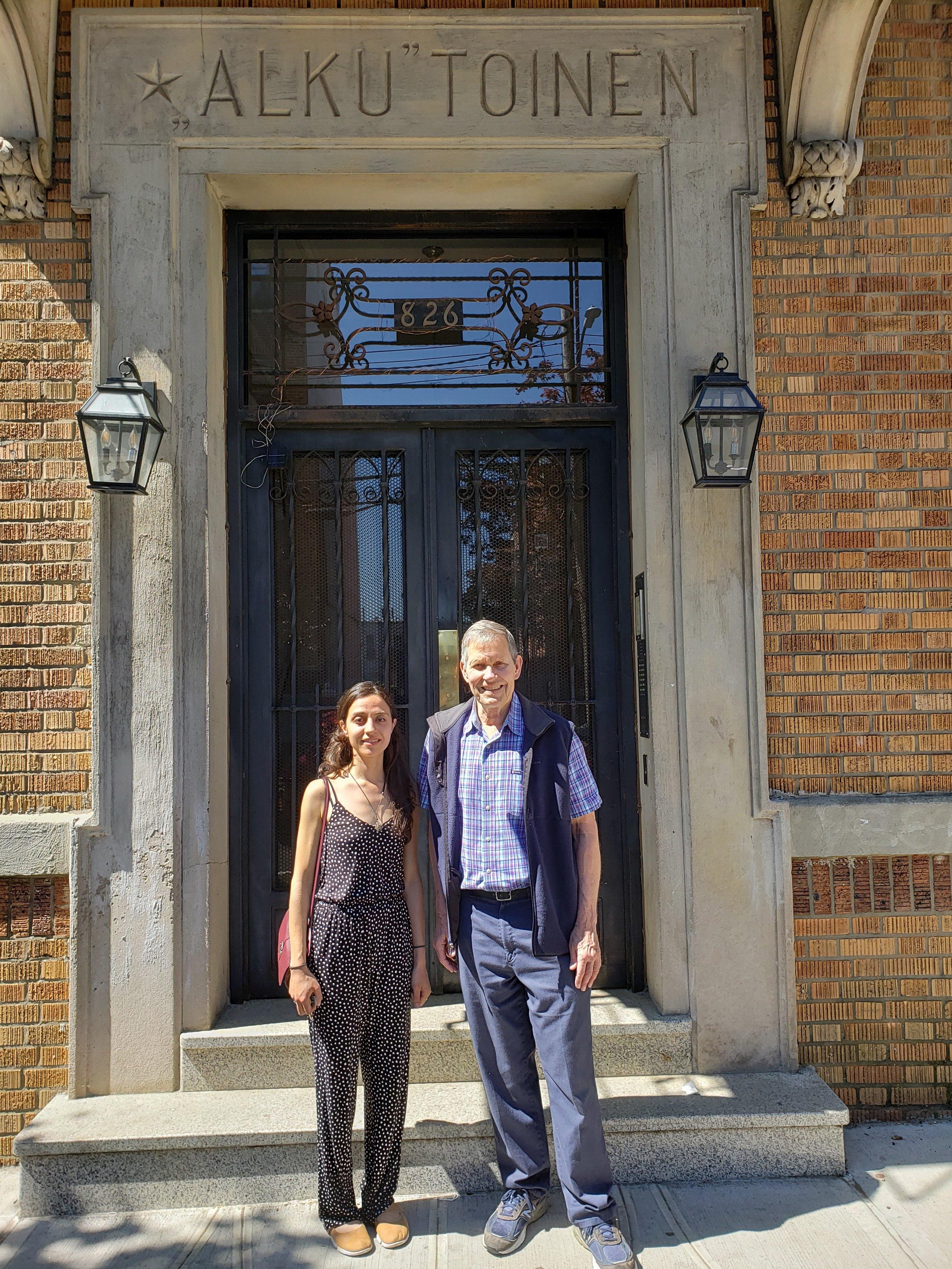 Valerie Landriscina and Robert Saasto