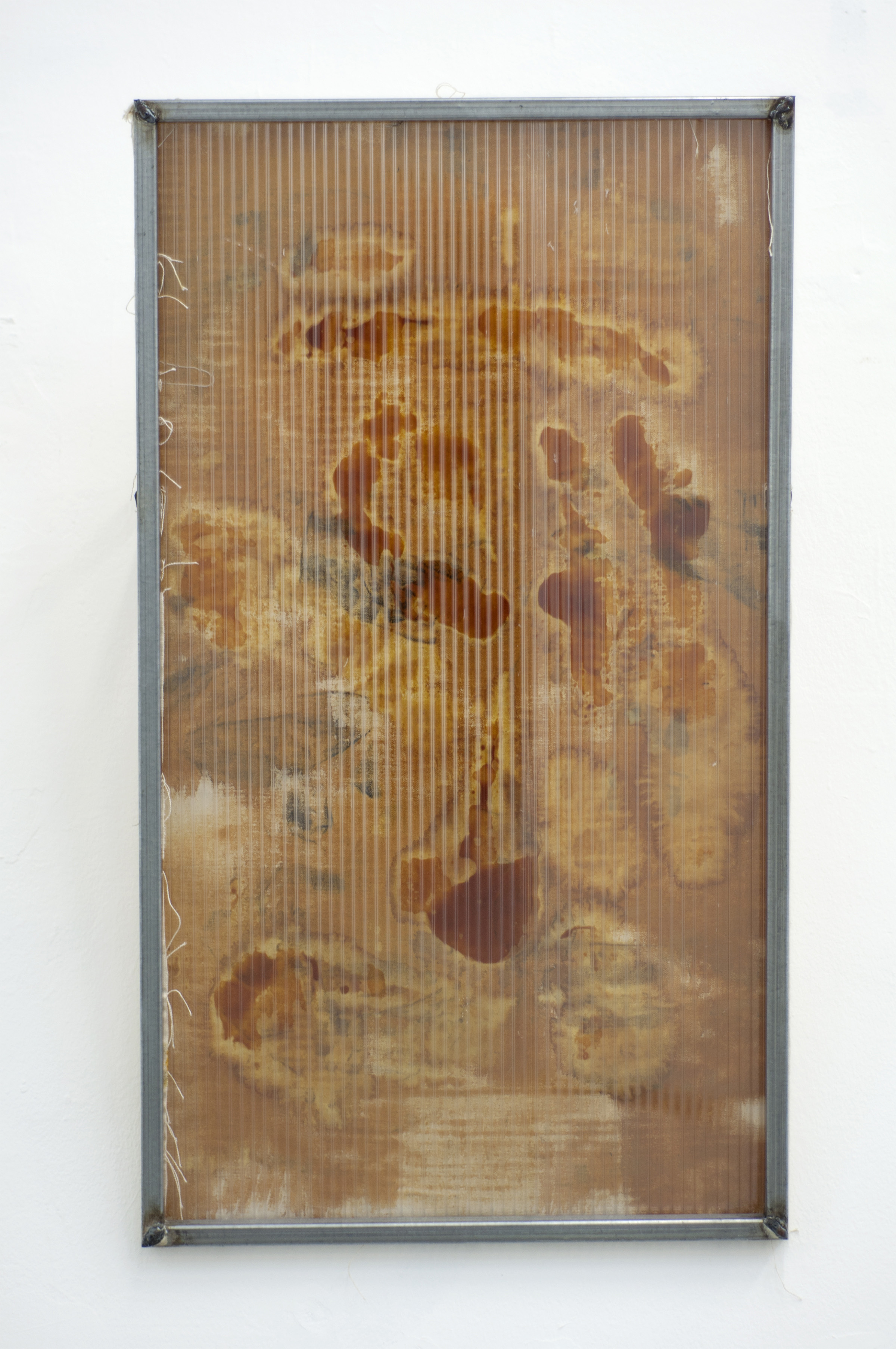 Ishai Shapira Kalter, Module No. 1 galvanized steel, grease, iodine, polycarbonate, screws, canvas, 45x77x20 cm, 2017 (front).jpg