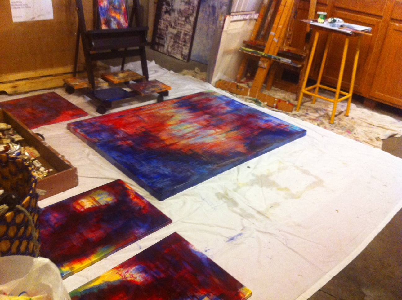 Studio coming together...