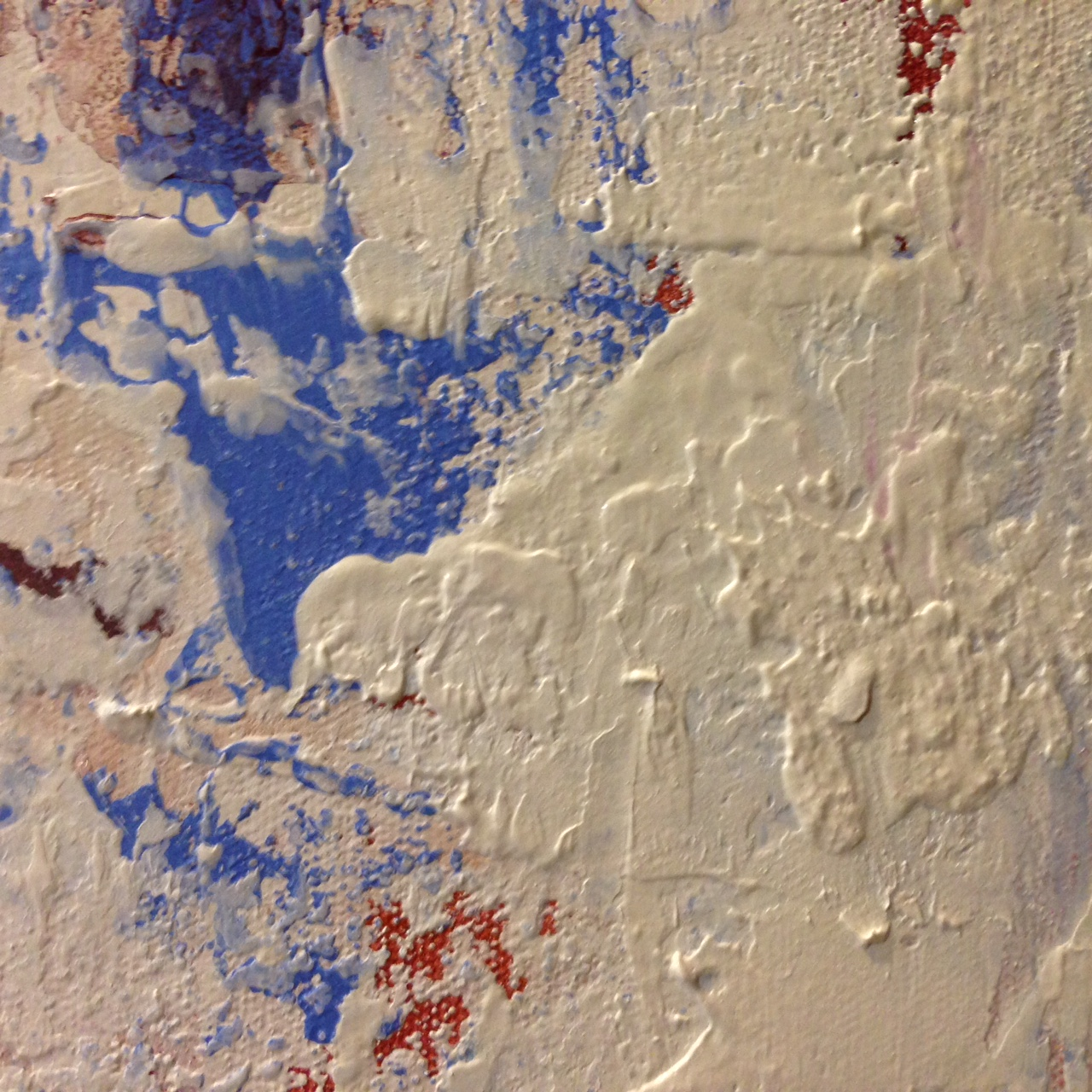 Detail of texture and overpainting.