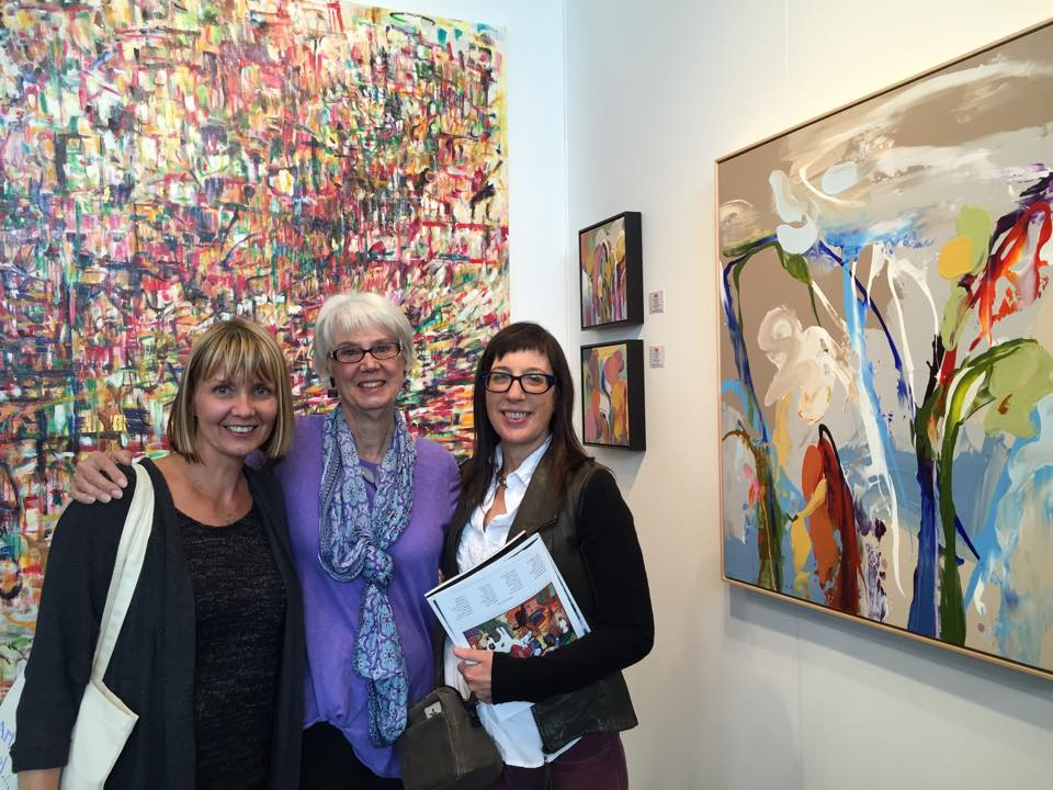 Meeting up with fellow artists Starr Davis and Lisa Omerod- at the SFO ArtMarket 2015