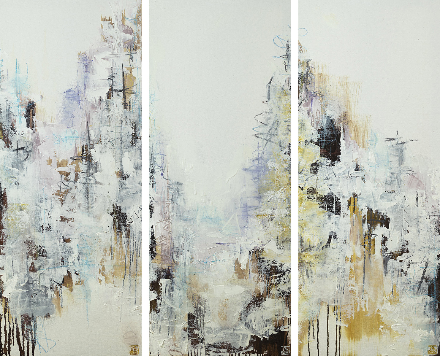 Secrets Of The Fog (Triptych) - SOLD