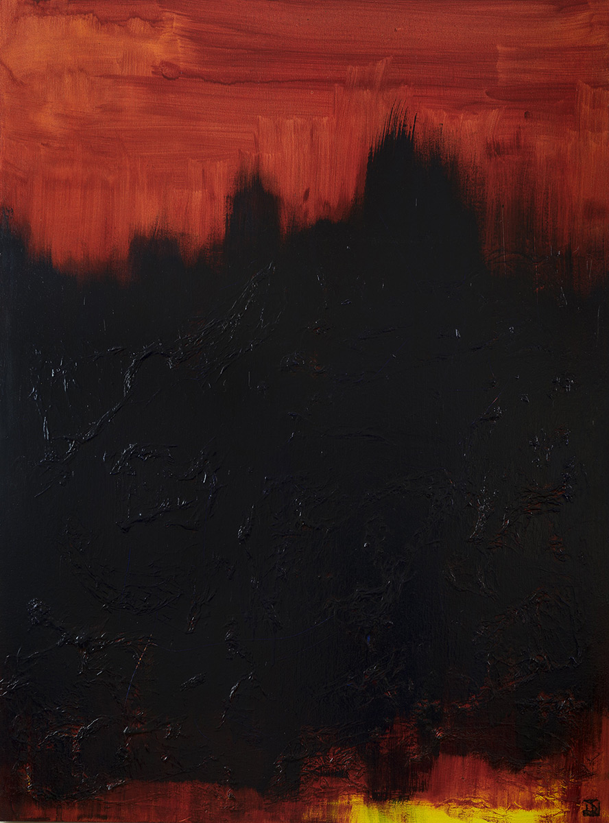 The Deep End In Red - SOLD