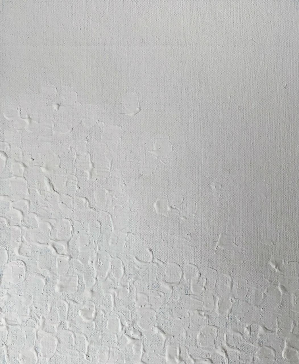 Robert Ryman inspired stokes of white.