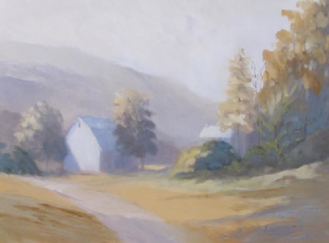"White Barn | 12""x16"""
