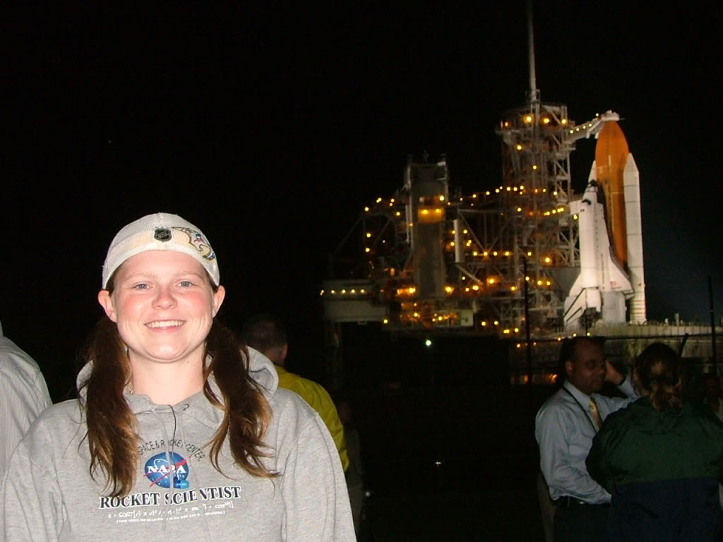 Just hours before the launch of STS-118