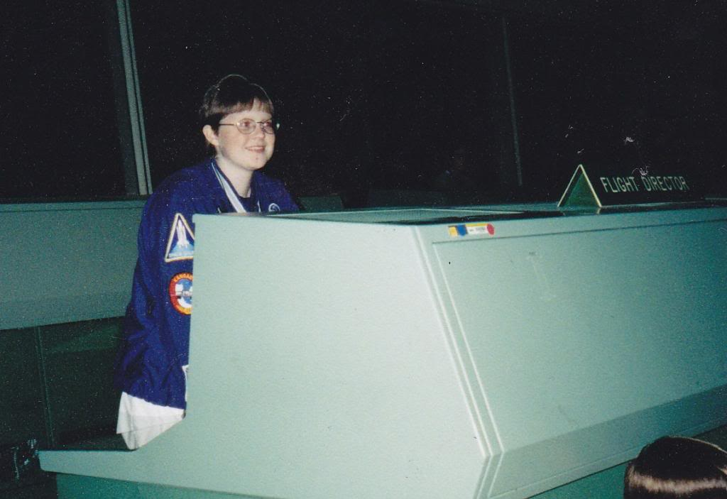 16 year old Kayla at JSC in 2001 - Apollo Mission Control. my attempt at a Gene Kranz (I had too much smile)