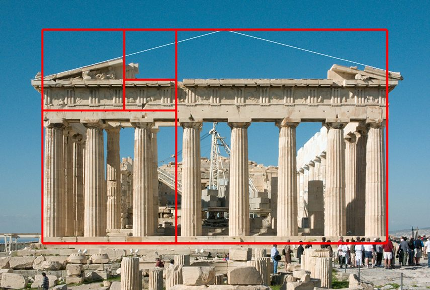 The Greeks were well known for incorporating Phi into much of their architecture. Not only is it visually balanced, but clearly it has withstood the test of time.