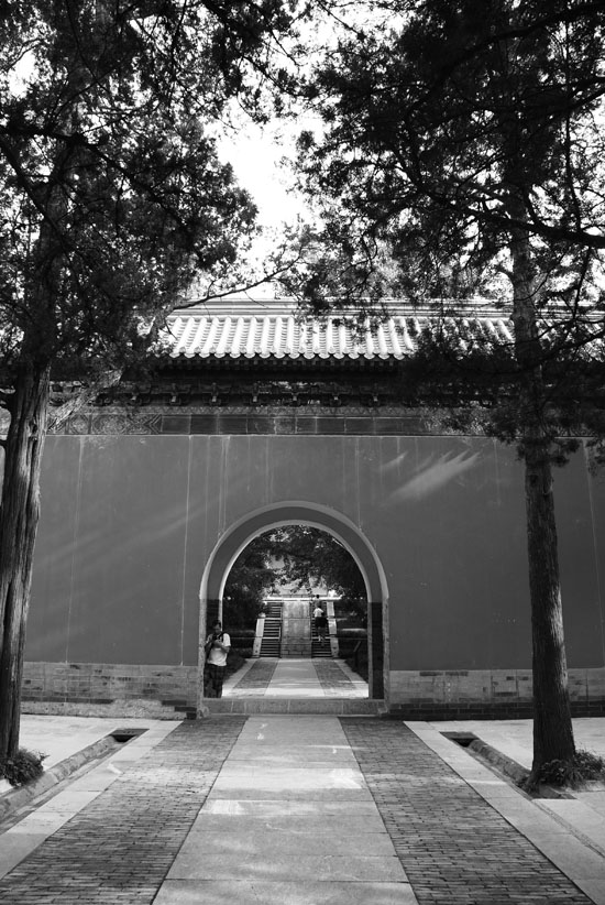 One of like 40 thresholds on the way to the Ming Tomb. If you think I am arrogant or extravagant, you should get a load of this guy / emperor.