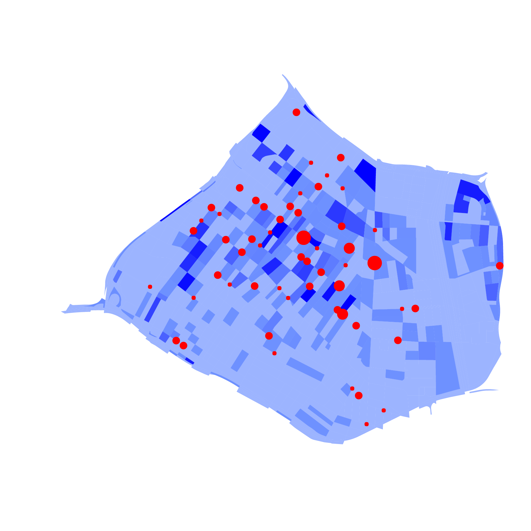Population density and KSIs per intersection.