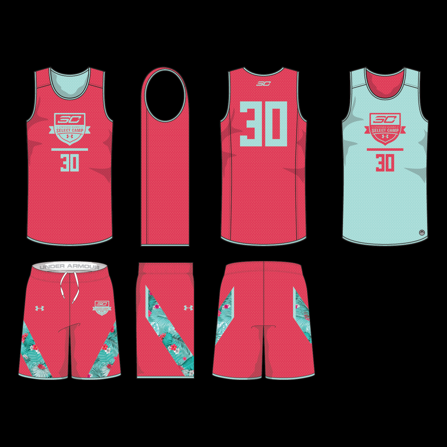 Practice Uniforms Were Designed to Stand OUT while standing apart from the shoes.