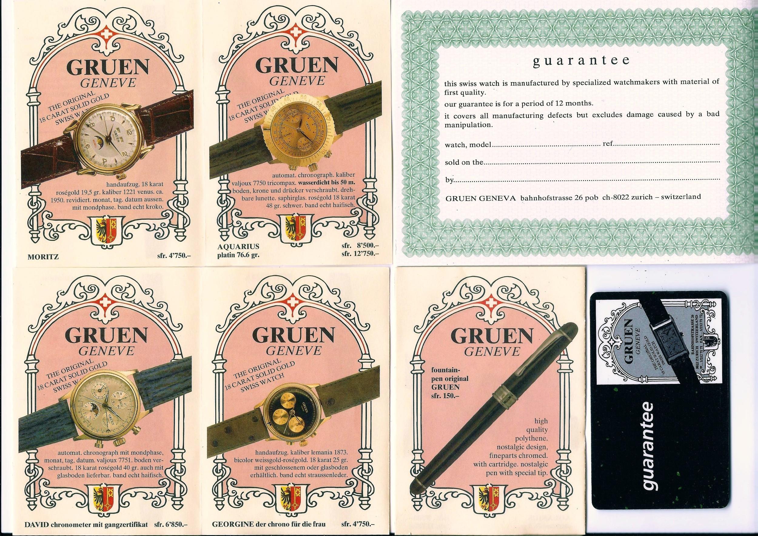 Photo Ingeborg Bechtoldt DGS Glashuette i. Sa. GmbH : Werbung der GRUEN GENEVE SA 2000 über Zürich/CH Marketing