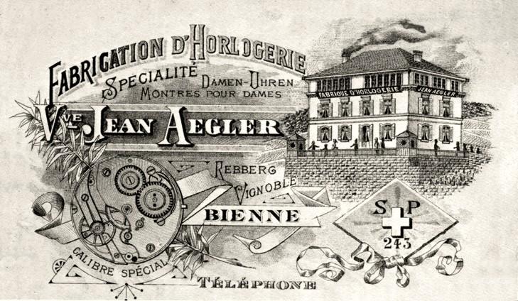 Photo  oben : Gerhard Bechtoldt DGS Glashuette i. Sa GmbH : alte    AEGLER -Fabrik für Damenuhrwerke in Biel / Vergleich  unten : Fabrikgrösse  ALPINA-GRUEN -Uhren. Biel