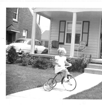 That's me when I was three, a baby-baby boomer, in front of my favorite home ever, except for my current home. This one is in Northwest Detroit.
