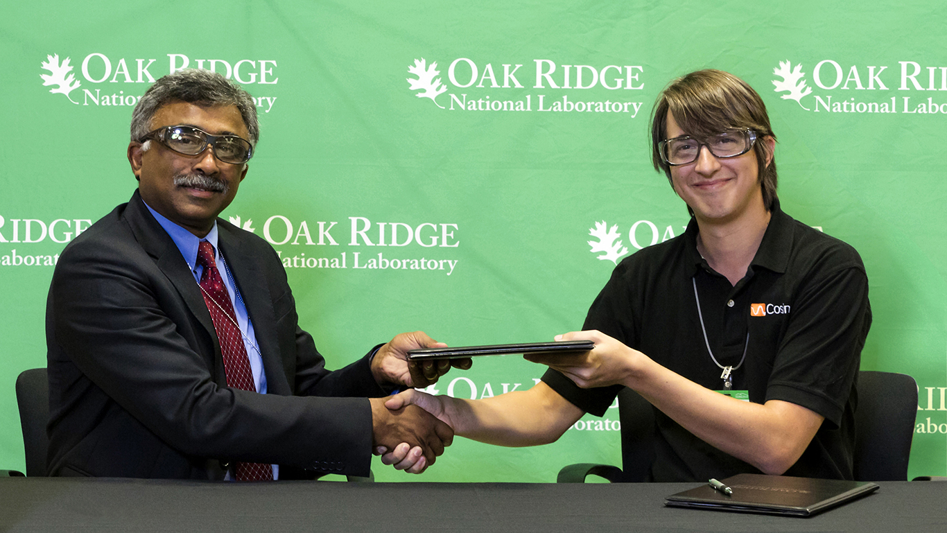 Our CEO, Jason Miller, beginning our partnership with Oark Ridge National Laboratory.