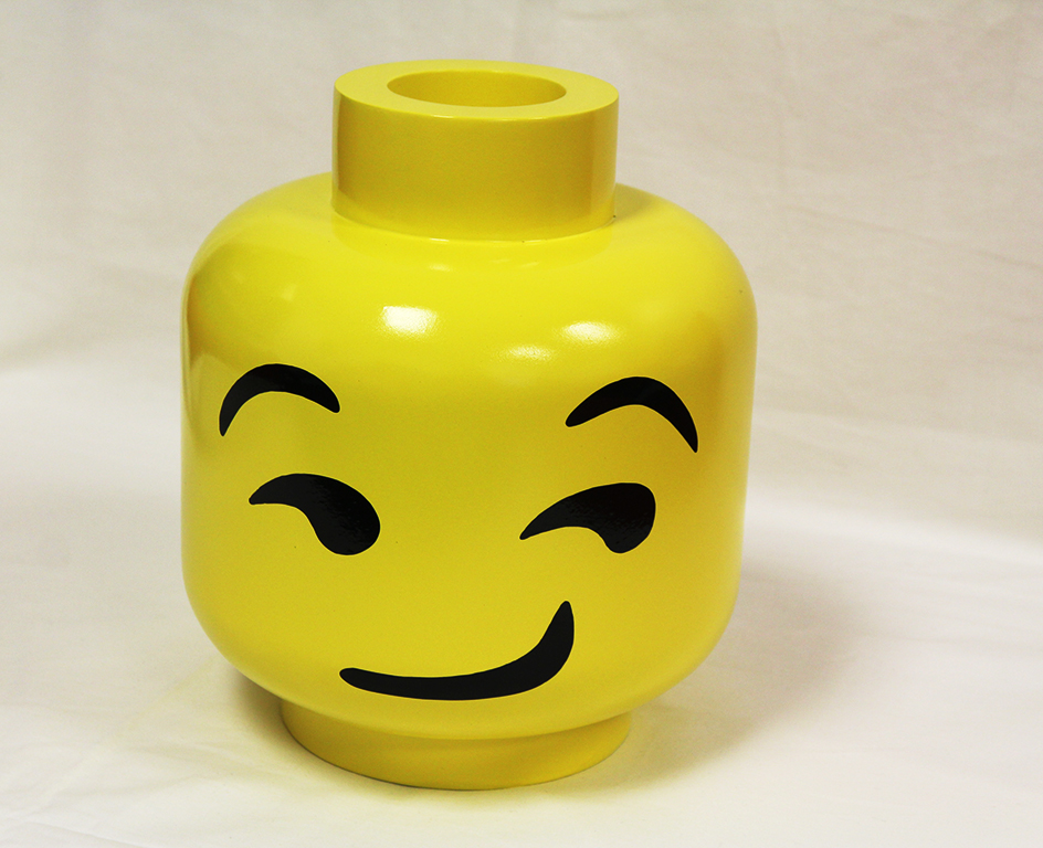 "Painted Lego Head 12"" (30,48cm) $600"