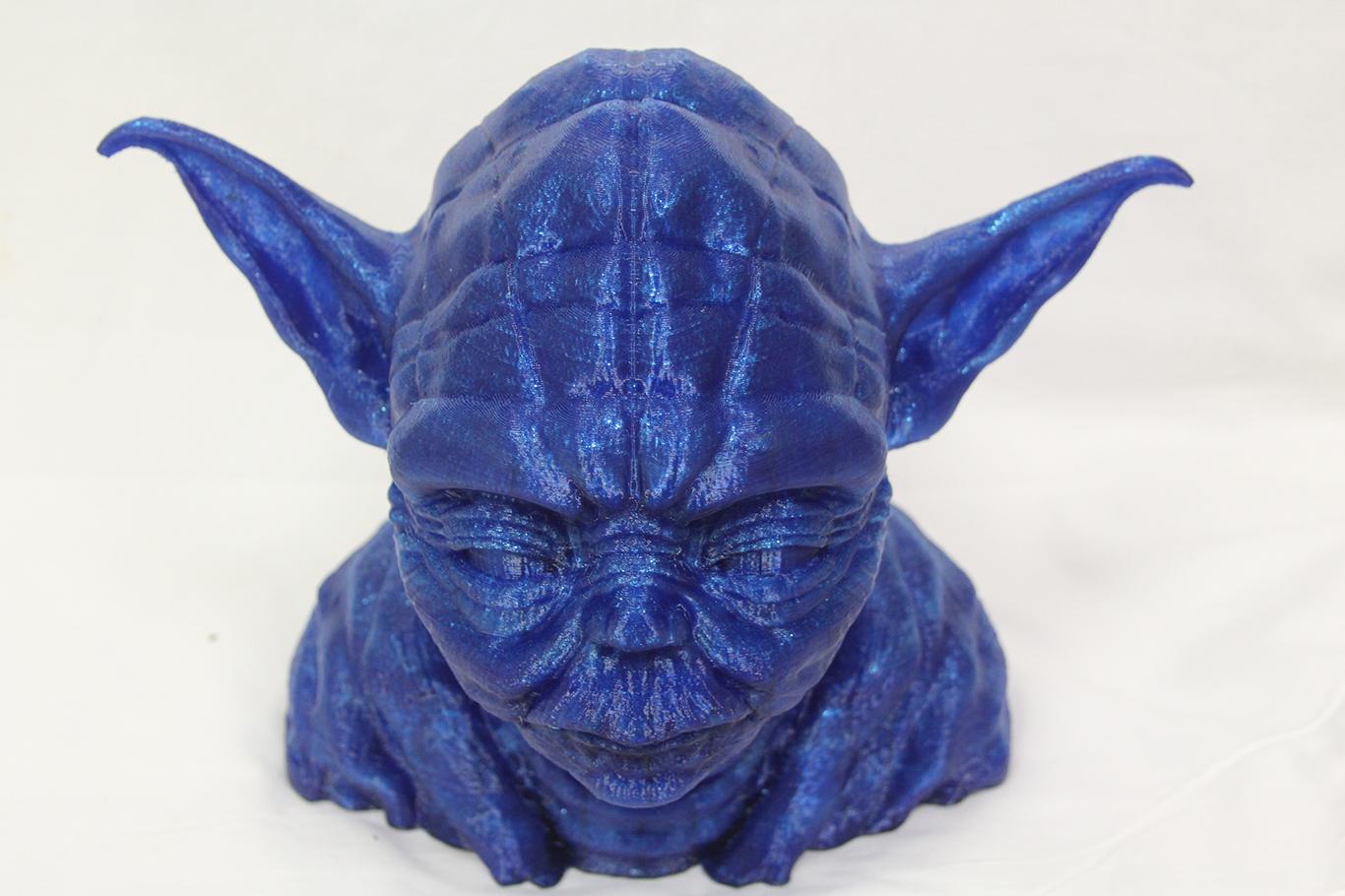 """Yoda Head Blue PETG 12""""(30,48cm) $325"""