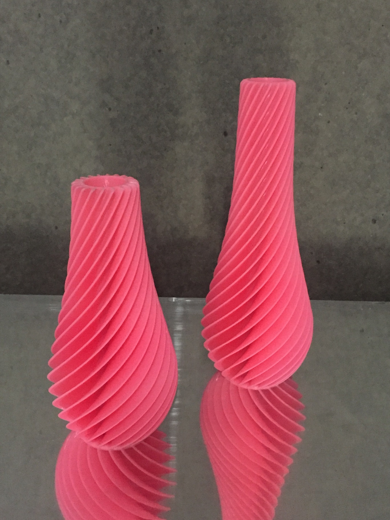 "Vase Pink ABS 15""(38cm) $200"