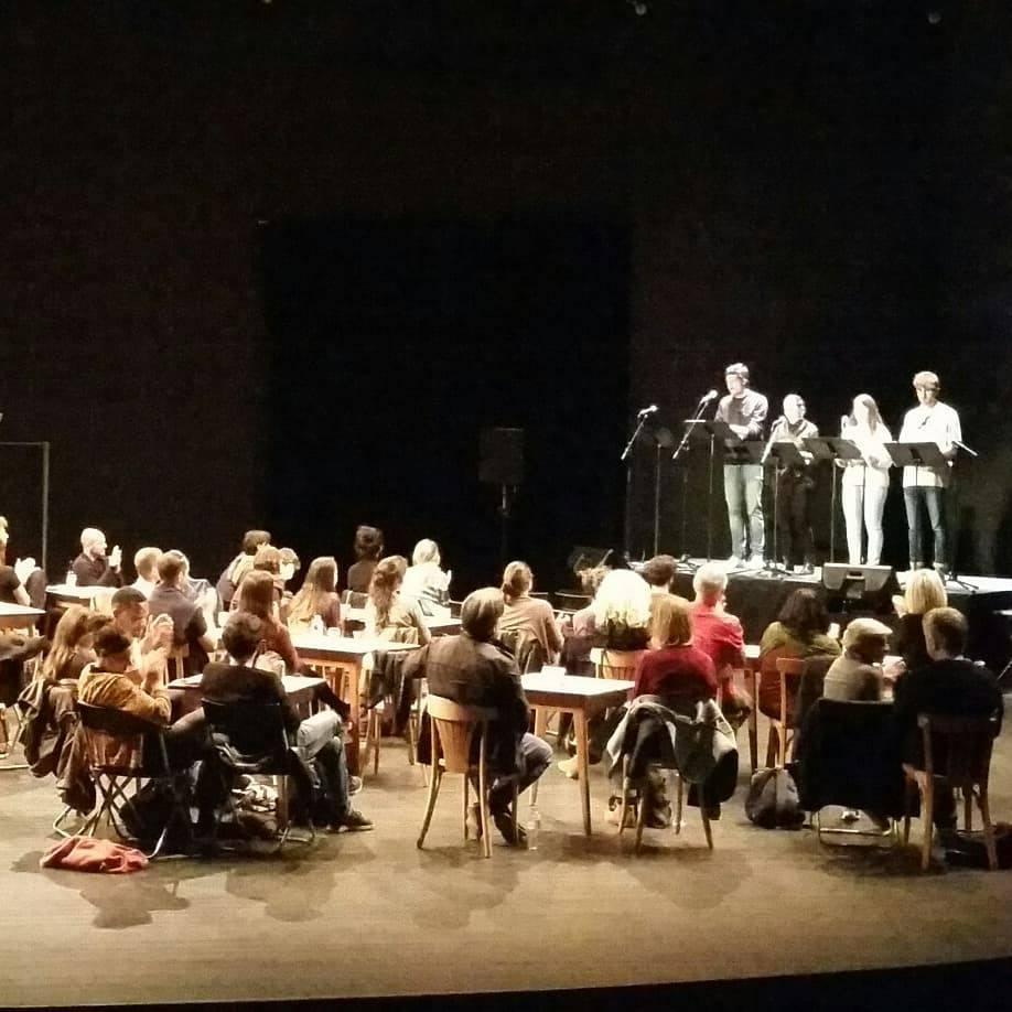 """Lecture de la pièce """"Marianne"""" au théâtre de la Vignette à Montpellier lors du Festival Texte en Cours, le 3 mai 2018"""