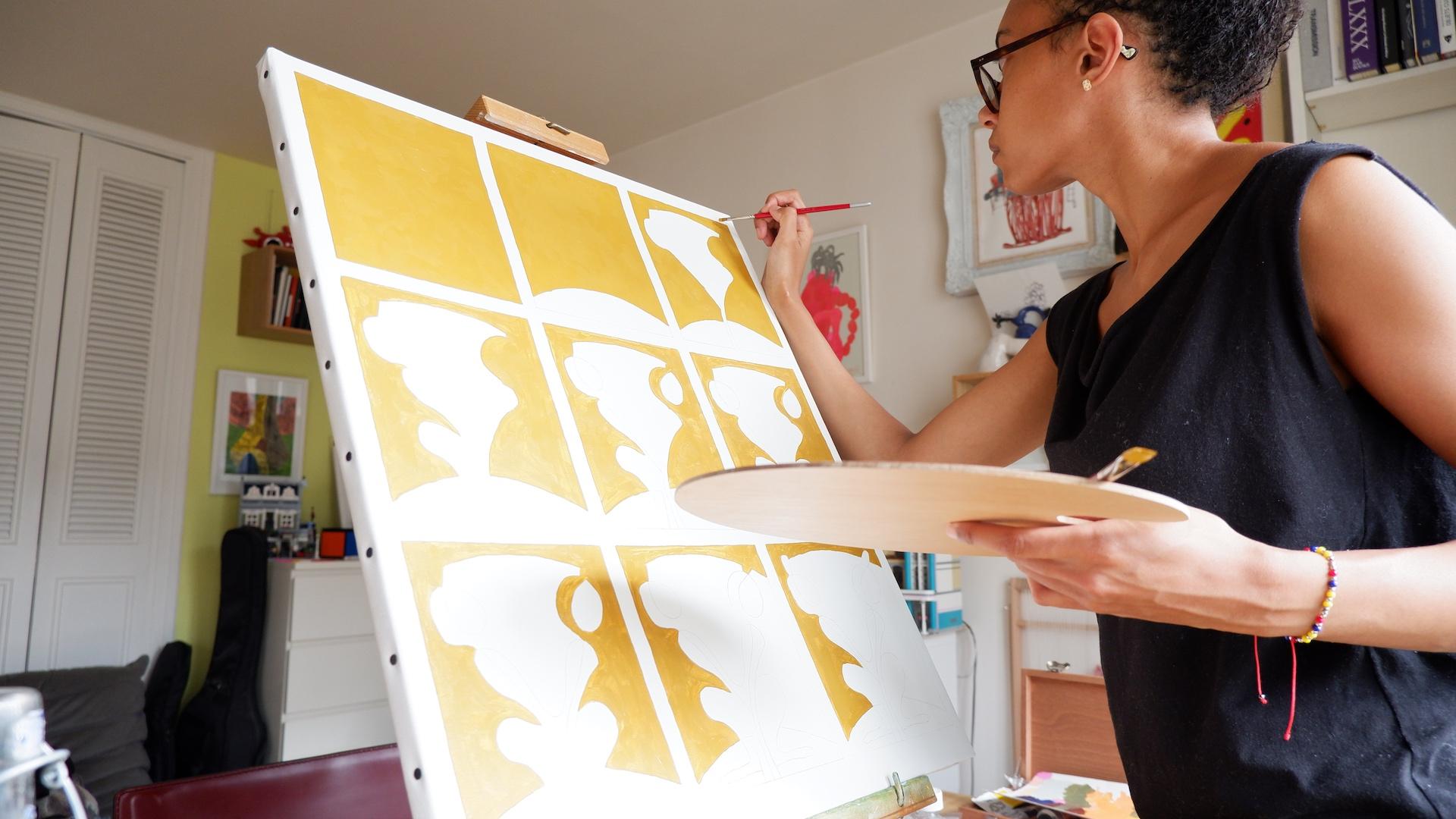 Raphaële Anfré painting