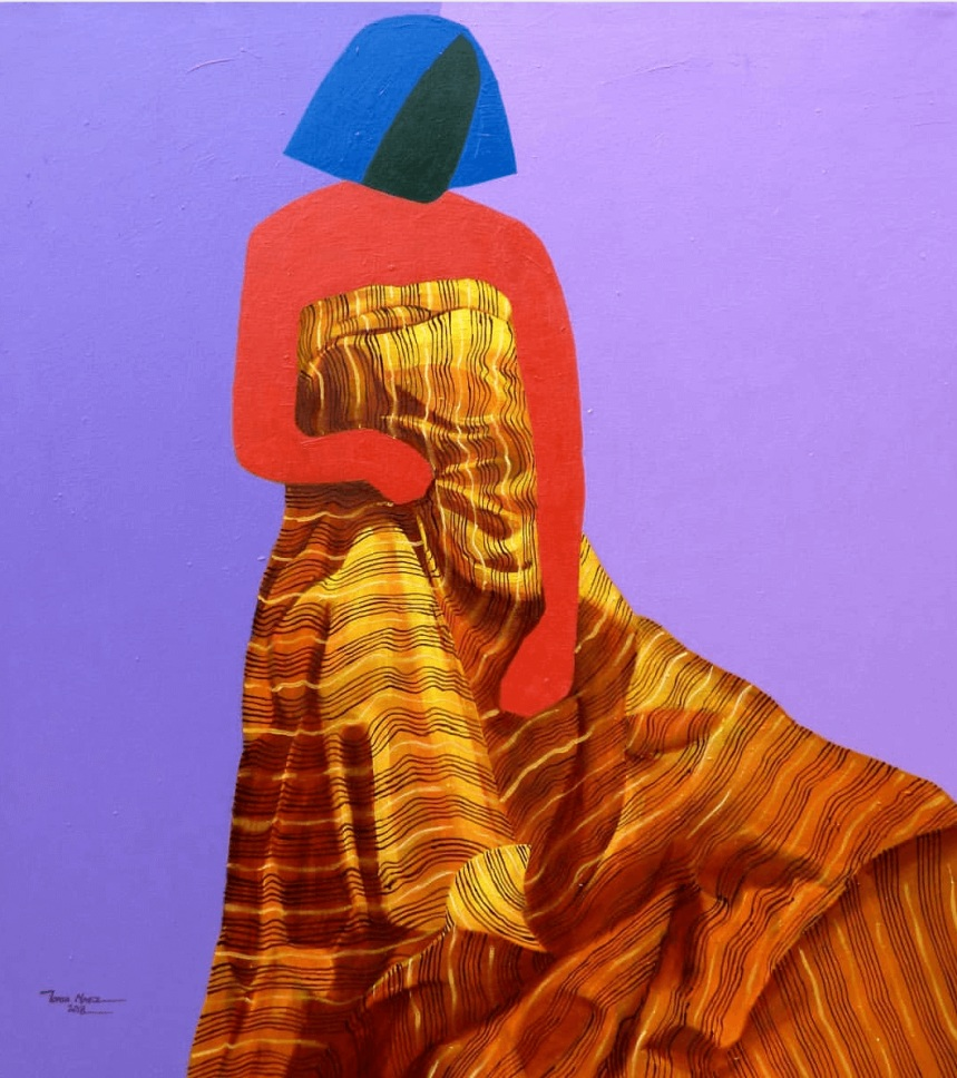 © 'Day IV (Plain George)' Oil and Acrylic on Canvas, Tonia Nneji