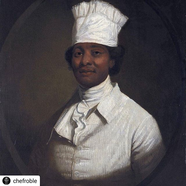 "#Repost @chefroble • • • • • Hercules – also known as ""Herculas"" or ""Uncle Harkless"" – was a slave who worked at Mount Vernon, George Washington's Virginia plantation on the Potomac River. He was the Chef at the mansion in the 1780s, cooking for the Washington family and their guests. In 1790 President Washington brought him to Philadelphia, Pennsylvania (then the temporary national capital) to cook in the kitchen of the President's House. Hercules escaped to freedom from Mount Vernon in 1797, and later was legally manumitted under the terms of Washington's will. . . . . . . . . . #panafrique #panafrican #chef #blackcreatives #blackchef #afropolitan #vegan #DC #blackhistory #blackisbeautiful #melanin"