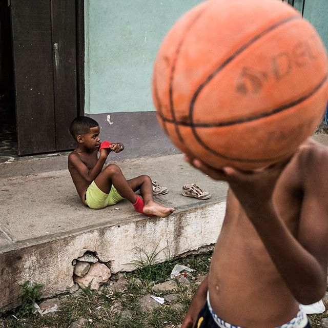 Children playing in the streets of Trinidad, Cuba