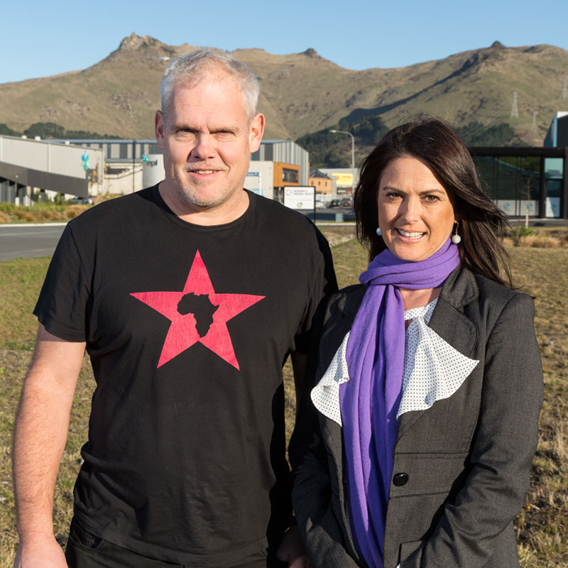 David and Nicole onsite at Portlink, soon to be Canterbury Biltong's new home.