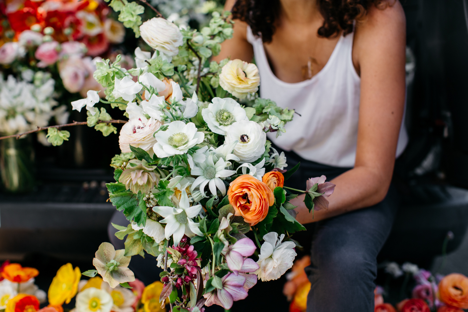 A project with floral stylist Jardine Botanic.Photo by Luisa Brimble.