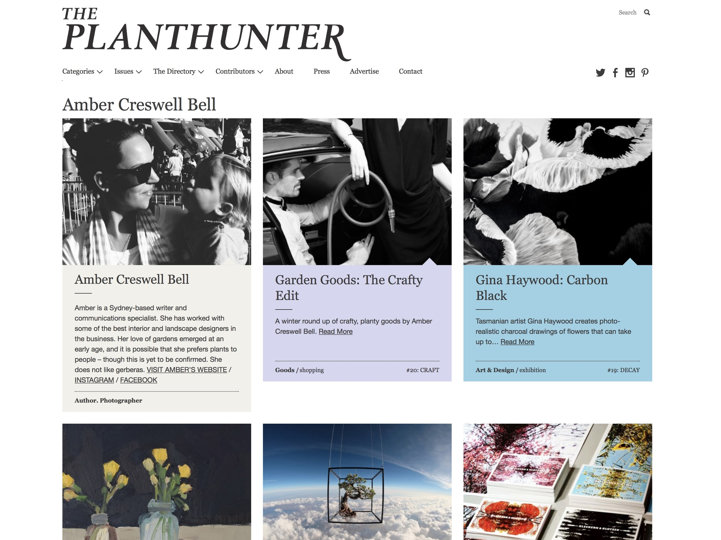 Amber is a regular contributor to The Planthunter.