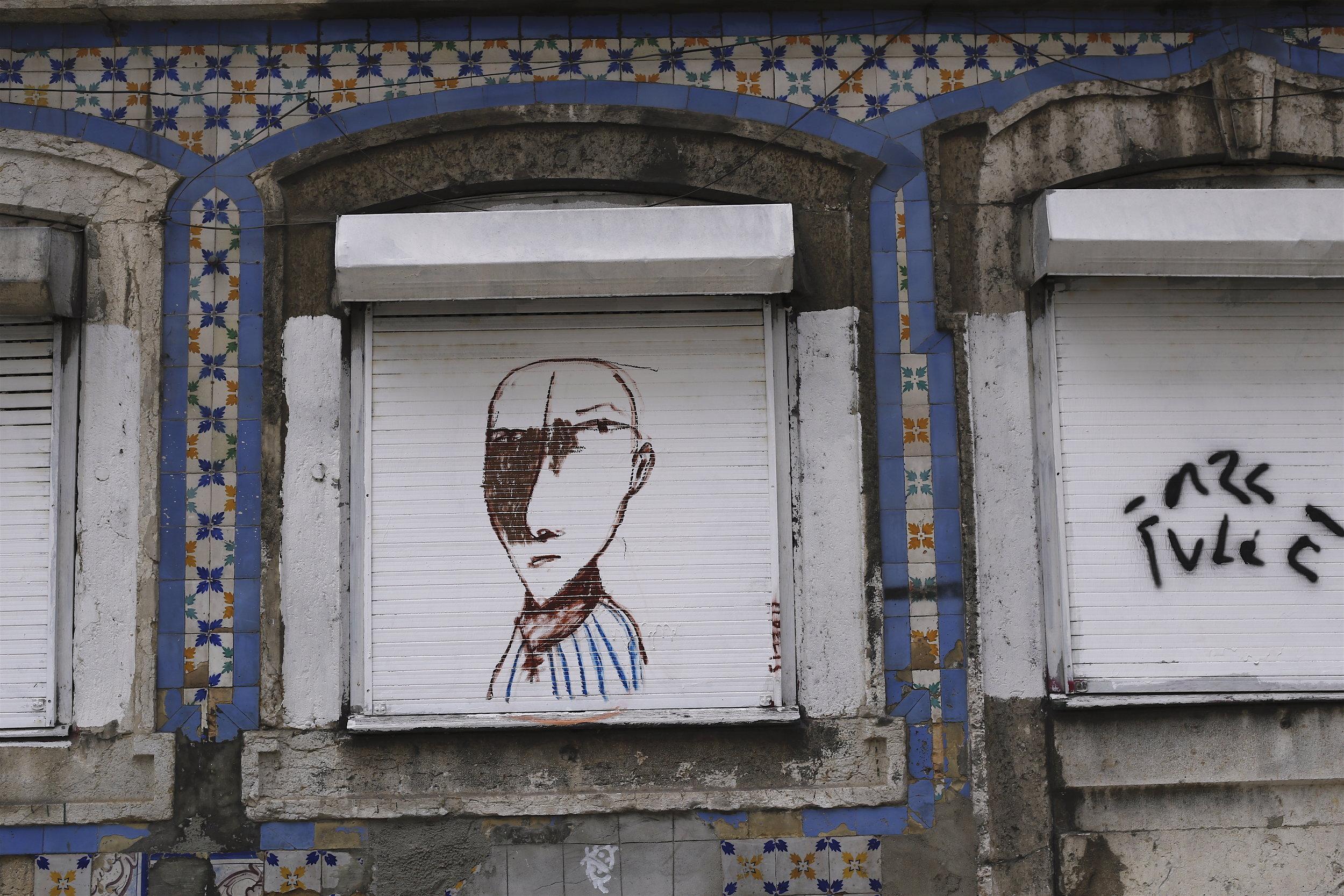 Lisbon street art, photo by Poppy Danis, 2017