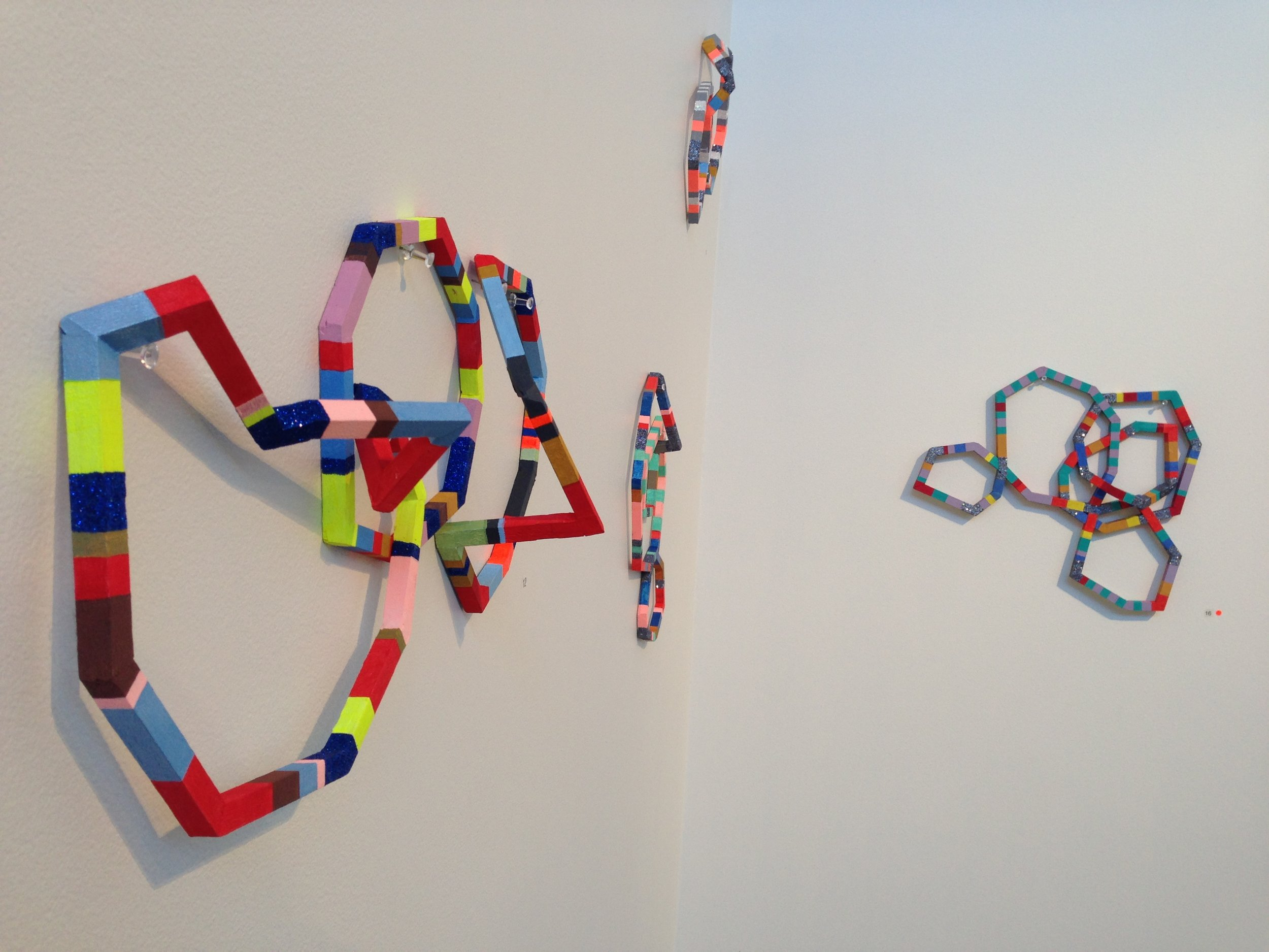 'In Tandem' 2014, installation view, Brenda May Gallery, Sydney. Image featuring works from Al Munro's 'Molecular Measure' series. Curated by Olivia Welch. Image courtesy of the Artists and MAY SPACE, Sydney.