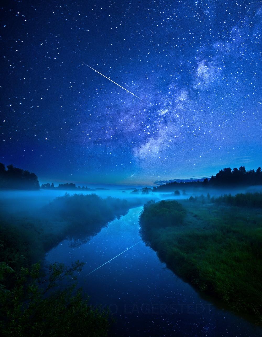 """Night River"" By Mikko Lagerstedt."