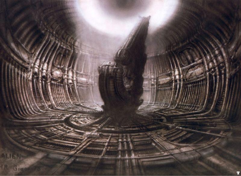 H.R Giger :  A Derelict Alien Cockpit