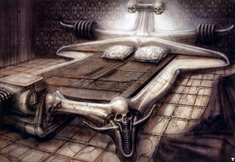 H.R Giger :    Bed Station